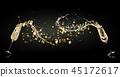 Celebration concept with splashing champagne 45172617