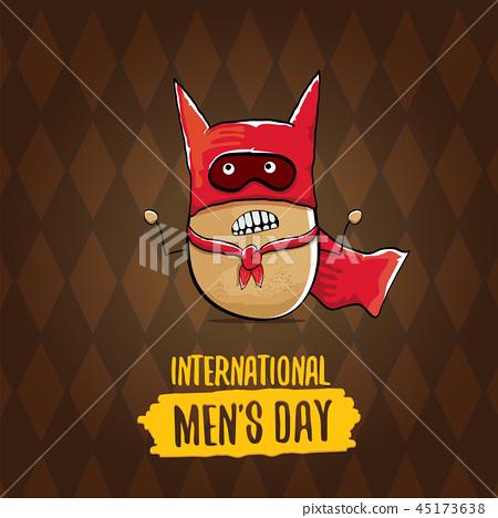 International Mens Day Vector Cartoon Greeting Stock Illustration 45173638 Pixta