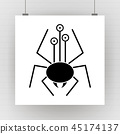 spider insect design 45174137