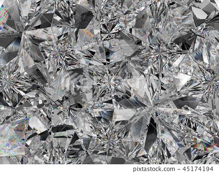 Gemstone structure extreme closeup kaleidoscope 45174194