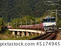 하쿠 비선을 달리는 EF641047 컨테이너화물 열차 45174945