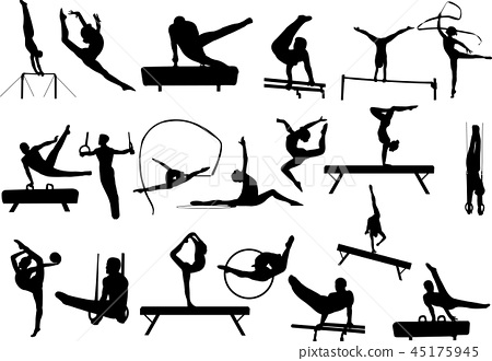 Gymnastics silhouettes collection 45175945