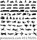 transportation,silhouette,vector 45176291