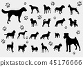 dogs silhouettes collection 45176666