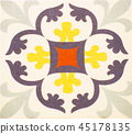 Detail of the traditional tiles  45178135