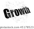 Business concept: Growth on Digital background 45178523