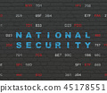 Safety concept: National Security on wall background 45178551