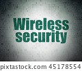 Privacy concept: Wireless Security on Digital Data Paper background 45178554