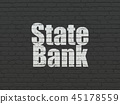 Banking concept: State Bank on wall background 45178559