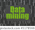 Data concept: Data Mining on wall background 45178566