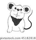 Sketch cartoon mouse. 45182818