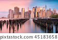 gorgeous outlook on the lower Manhattan at sunset 45183658