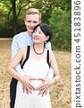 pregnant, couple, family 45183896