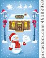 snowman letter santa 45183959