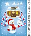 snowman letter santa 45183963