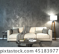 Night interior with lamp 45183977