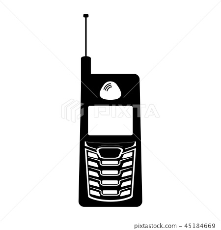 Isolated old cellphone icon 45184669