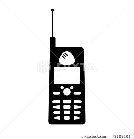 Isolated old cellphone icon 45185101