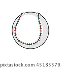 ball game isolated 45185579