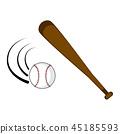 ball isolated baseball 45185593