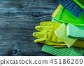 Dustpan brush sponges safety gloves washcloth  45186269