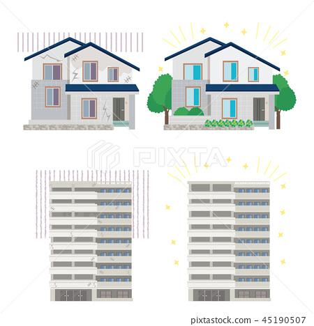 改革公寓房子例證 45190507