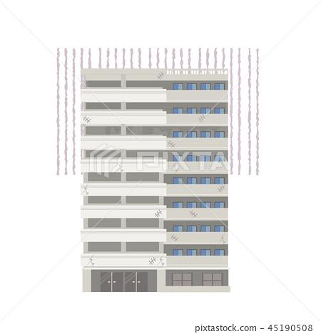 破舊的公寓插圖,需要翻新 45190508