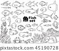 魚圖標集 45190728