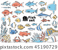 Fish icon set 45190729