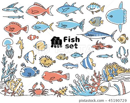 魚圖標集 45190729