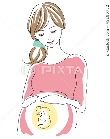 임산부와 아기 45190732