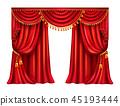 curtain, lambrequin, realistic 45193444