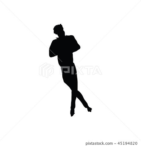 Figure skate man silhouette 45194820