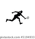 action player silhouette 45194933