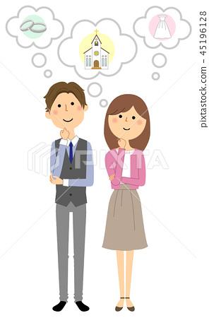 젊은 커플 결혼 준비 45196128