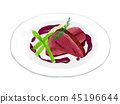 Meat cooking illustration fashionable 45196644