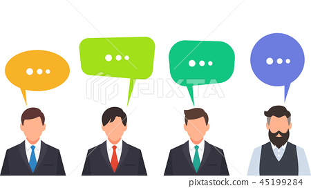 Business people talking and discussing cartoon 45199284