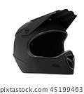 Sport Motorcycle Full Face Helmet Isolated 45199463