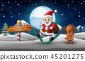 圣诞老人 圣诞老公公 雪 45201275