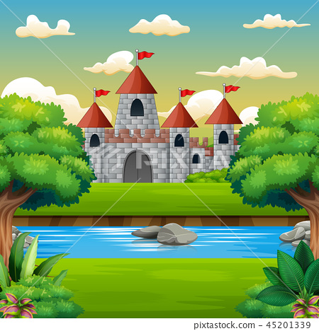 Nature scene in front of the castle background 45201339
