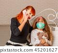 sick little girl 45201627
