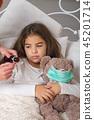 sick little girl 45201714