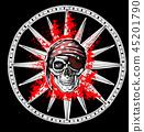 wind rose skull 45201790