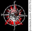 wind rose skull 45201791