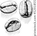 three coffee beans 45201855