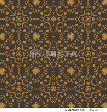 Constructive geometric pattern in shades of gold 45202838