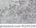 Frost flower on the window 45205346