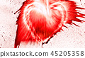 Heart shape from splaches and blobs 45205358