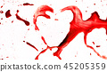 Heart shape from splaches and blobs 45205359