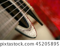 Detail on classical guitar six string, 45205895